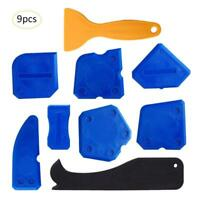 9pcs Caulking Tool Kit Silicone Sealant Finishing Grout Scraper Caulk Remover