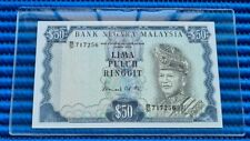 717256 Malaysia $50 Lima Puluh Ringgit Note B/51 717256 Dollar Banknote Currency
