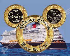 5x7 CUSTOM Disney Cruise Door Magnet - FANTASY WONDER DREAM MAGIC w/ portholes