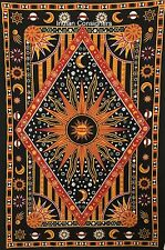 Bohemian Bedspread Cotton Celestial Sun Moon Planets Star Wall Hanging Tapestry