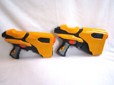 Lot of 2 Nerf Speed Load 6 Dart Tag Blasters