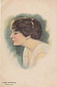 OLGA  PETROVA-hollywood  SILENT/talkies SCREEN/movie star GLAMOUR 1920s postcard
