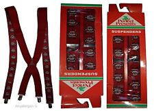Santa Claus Suspenders. Christmas Gift item. X-Mas gift suspenders Clip on B New