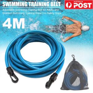 Swimming Training Resistance Belt Adult Kid Swim Bungee Exerciser Lash Band Rope