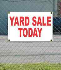 2x3 YARD SALE TODAY Red & White Banner Sign NEW Discount Size & Price FREE SHIP