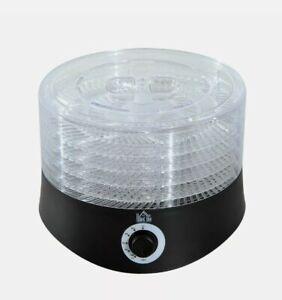 + 280W 5-Tier Food Fruit Dehydrator w/ Temperature Control Black 3:21