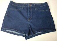 Wild Fable Women's High Rise Dark Wash Stretch Blue Denim Jean Shorts Size 34