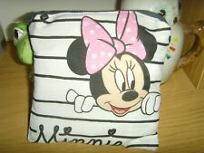 NEW COIN PURSE IN MINNIE MOUSE COTTON FABRIC 13cm x 13cm