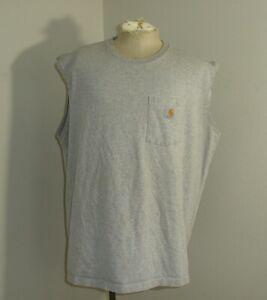 Carhartt 100374 Mens 2XL Heather Gray Sleeveless Relaxed Fit T-shirt