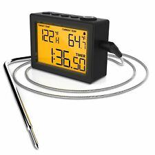 Cappec Instant Thermometer with High/Low Temperature Alarms, Up/Down Timer