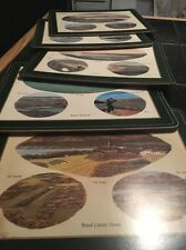Lot 6 Pimpernel Golf Hole Placemats Heavy Weighted Cork Backed Art Scottish UK