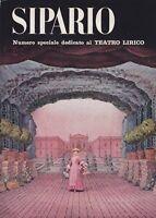 Sipario, rivista teatrale, 1964, Bompiani, cinema, speciale teatro, melodramma