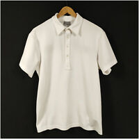J. Lindeberg Golf Polo Shirt White Men's Medium Field Sensor Fabric Polyester