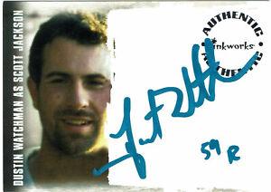 Lost Revelations Autograph Card A-10 Dustin Watchman as Scott Jackson Blue 59R