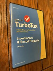Intuit Turbotax Premier, Investments and Rental property 2014 NICE