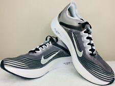 NEW Men SZ 9 NIKE ZOOM FLY SP Black / Light Bone White Running Shoes AJ9282-001