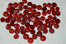 New listing Red Glass Gemstones Flat Back Marbles Lot of 50+