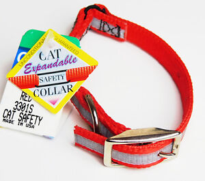 """Cat Safety Collar Expandable Snag Proof """"RED WHITE"""" Coastal Pet Products 3301s"""