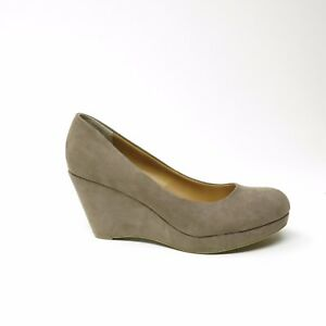 A.N.A A New Approach Faux Suede Wedge Heels Sz 10 M Round Toe