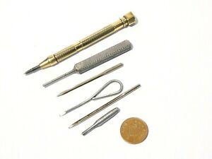 Vintage Brass & Steel Modellers Engineers Watch Makers TOOLS Group lot