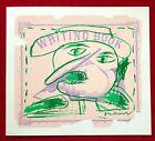 Pierre Alechinsky Lithograph Writing Book Aimé Maeght Galerie Season's Greetings