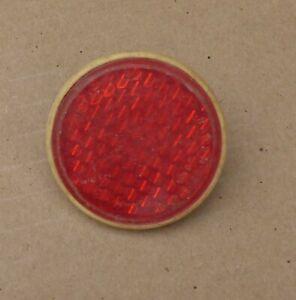 1 x Rückstrahler 💥 Reflektor Katzenauge Fahrrad 💥 Handwagen 💥 DDR rot RUND