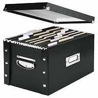 Caja de almacenamiento de archivos Leitz Vaultz suspensión A4 Negro 60670095