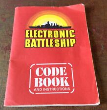 1982 Electronic Battleship Code Book And Instructions Milton Bradley A3