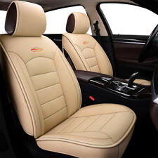 US Beige Car Leather Seat Covers 5-Seat Front+Rear For Honda Accord Civic CR-V