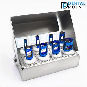 Terphine Drill Set of 8 pcs Titanium Coated & bur Holder Bone Graft Implant kit