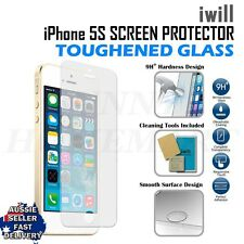 2 x Apple iPhone 5 5s Premium anti scratch Tempered Glass protector hardene2ss
