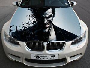 Vinyl Car Hood Wrap Full Color Graphics Decal Joker Villain Arkham City Sticker