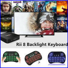 2.4G Mini Wireless BACKLIT Keyboard For Samsung Smart TV PC Android TV BOX
