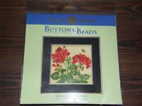 MILL HILL Buttons & Beads Counted Cross Stitch Kit - MH14-1816 GERANIUM