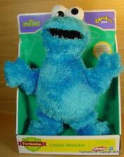 SESAME STREET Jim Henson The COOKIE MONSTER Plush 10 inch Soft Toy Cbeebies !