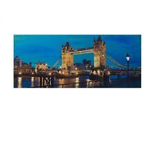 LED Bild Brücke Tower Bridge London Skyline XXL Stimmungsbild 120cm breit 0647