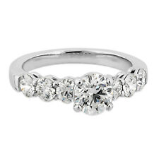 0.90 Ct Diamond Engagement Anniversary Rings 14K Solid White Gold Size 5.5 6 7