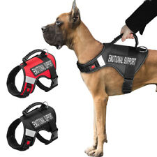 Emotional Support Dog Harness ESA Service Pet Dog Therapy Vest & 2 Patches M-XL