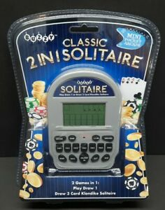 Buzzy Classic 2 In 1 Solitaire Mini Pocket Arcade Play, Klondike  **NEW-SEALED**