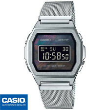 CASIO A1000M-1BEF⎪A1000M-1B⎪ORIGINAL⎪VINTAGE ICONIC⎪PLATA⎪SILVER⎪MILANAISE BAND