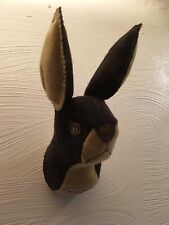 """Grumpy Bunny"" Hare-My Lovely Harris Tweed Felt-faux Head Wall Art"