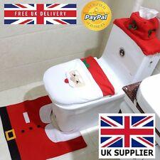 Christmas Gift Santa Clause Home Decoration Bathroom Set Toilet Seat Cover Xmas