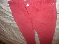 Gap Kids Size 16 Regular Slim Corduroy Adjustable Waist Straight Fit Pants (C19)
