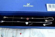 Swarovski Crystal Wishes Heart Bracelet Set, Red,  Authentic MIB 5272249