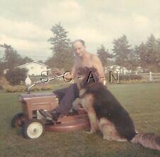 Original Vintage 1960s Lawn Mower RP- German Shepherd- Dog- Old Riding Mower