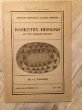 A.L. Kroeber. Basketry Designs of the Mission Indians [1922]