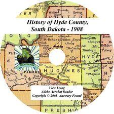 1908 History & Genealogy HYDE County South Dakota SD - on CD / DVD Highmore