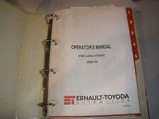 Toyoda Cnc Lathe Hes52 Operations Manual Fanuc