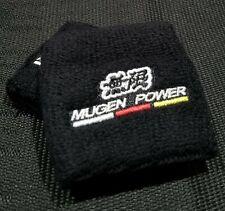 2PCS Mugen Black Brake/Clutch Reservoir Tank Sock Cover For Honda & Acura