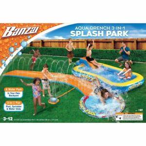 Banzai 05503WM Aqua Drench 3-in-1 Splash Park